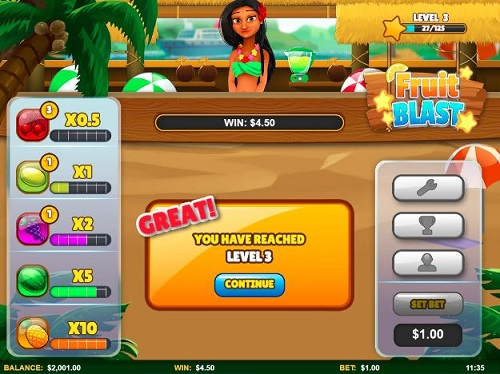 Fruit Blast HappyLuke slots from Skillzz Gaming chơi trò chơi casino online
